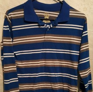 Boys xl 14-16 long sleeve striped shirt